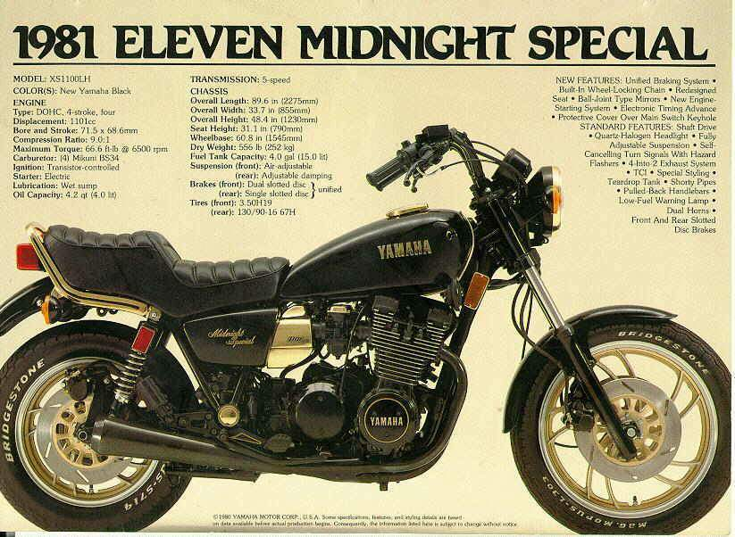 1980 Yamaha 850 Special Manual http://www.motorcyclespecs.co.za/model/yamaha/yamaha_xs1100sf_midnight_special.htm