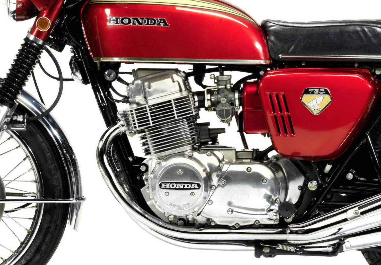 Honda Cb750 Bike 1970 Cb750f Of Most Interest In The Effective But Mostly Conventional Chassis Rolling Gear Assembly Is Hydraulically Operated Singlc Caliper Disc Front Brake