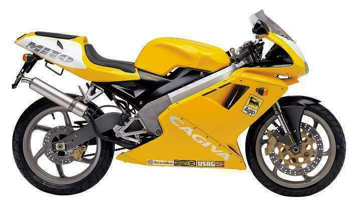 2009 Cagiva Mito 125 Yellow Motosport Edition