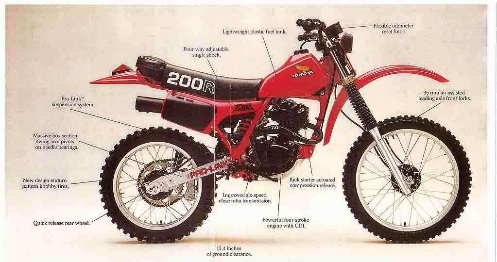 212 The Great Motorcycles Of Honda Xr 200